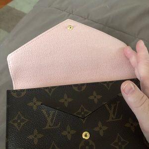 Authentic Louis Vuitton wallet pink inside